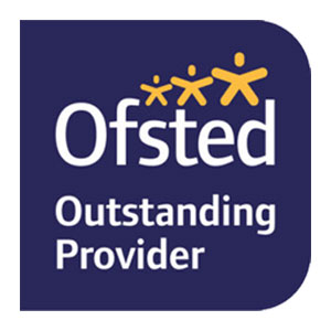 Ofsted Outstanding Provider logo.