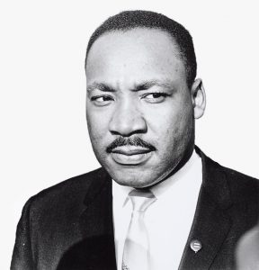 Black and white image of martin luther king