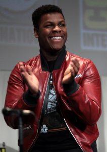 Actor John Boyega clapping