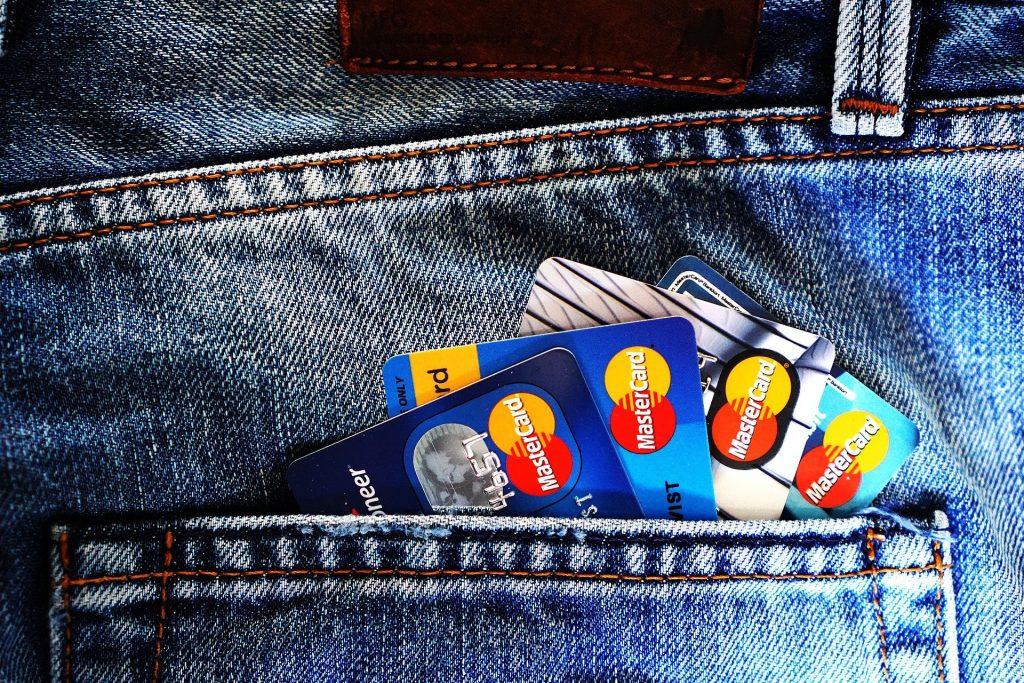 credit cards in back pocket