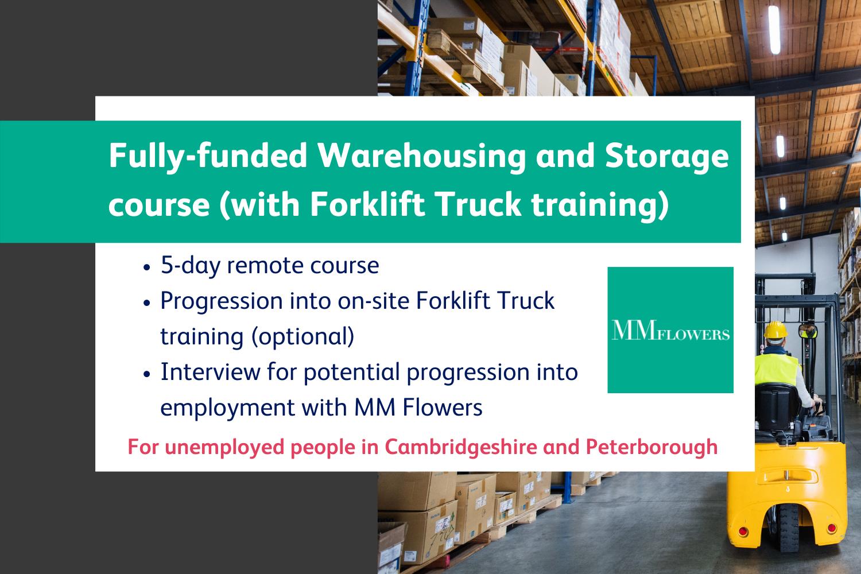 MM Flowers warehousing course information header