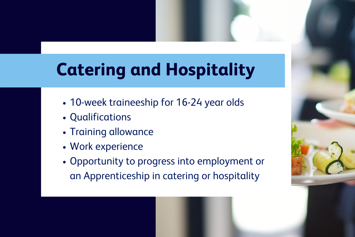 catering and hospitality website header